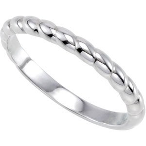 925 Sterling Silver Stackable Metal Fashion Ring - (Size 6.0)