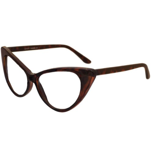 Extreme Cateyes Retro Vintage Celebrity Inspired High Pointed Frame Sunglasses - Several Colors Available!