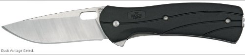 Buck 0340Bks Vantage Tm Select Knife (Black/Silver, Small)