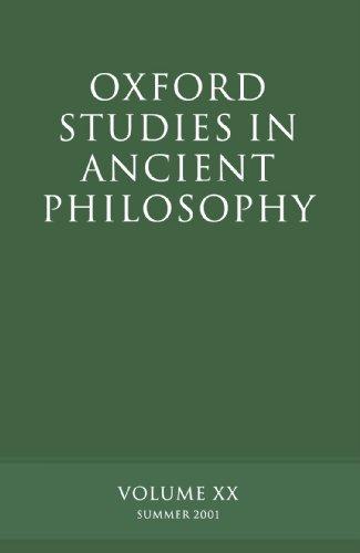 Oxford Studies in Ancient Philosophy: Volume XX: Summer 2001