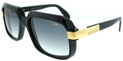 Cazal 607-001 SG Square Sunglasses,Black Frame/Grey Gradient Lens,56 mm