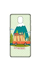 Lets Go Travel Designer Mobile Case/Cover For one plus 3.jpg