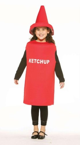 Costumes For All Occasions Gc975 Ketchup Child Costume 7-10