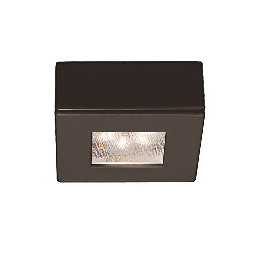 Wac Lighting Hr-Led87S-Db Led Square Button Lights 3000K, Dark Bronze