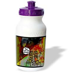 Londons Times Funny Music Cartoons - HOT Vacations In California - Water Bottles