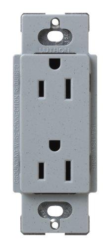 Lutron Scr-15-Bg Satin Colors 15A Electrical Socket Duplex Receptacle, Bluestone