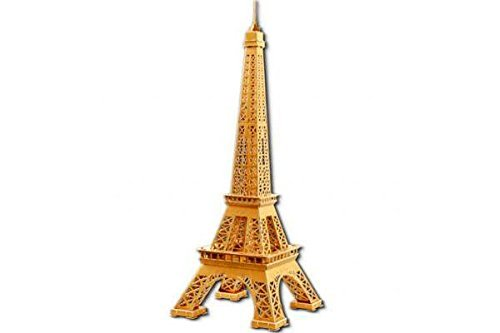 CO-RODE Eiffel Tower 3D Natural Wood Puzzle