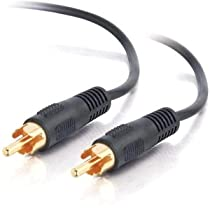 C2G / Cables to Go Value Series 03168 Mono RCA Type Audio Cable, Black (12 Feet/3.65 Meters)