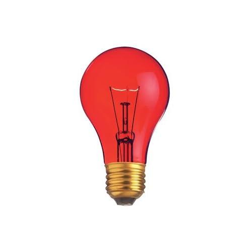 25 Watt A19 Transparent Red Light Bulb Incandescent Bulbs