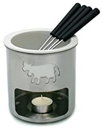 Swissmar Swiss Moo Fondue Set - Chocolate - Stainless steel