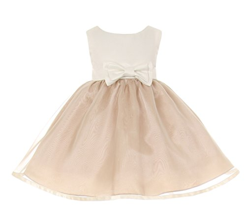 Cinderella Couture Baby Girls' Ivory Satin & Organza Easter Flower Girl Dress