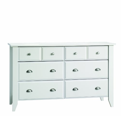 Child Craft Shoal Creek Ready-to-Assemble Double Dresser, Matte White