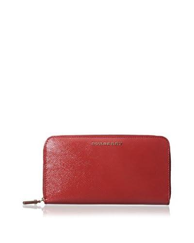 Burberry Women's Zip Wallet, Coral Red