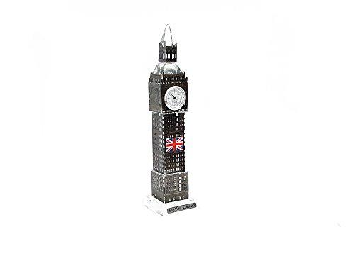Ornament Londra Big Ben Tower Souvenir, regalo di natale in metallo nero 18cm by gr8vape