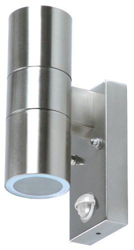 Ranex-5000257-Wand-Auenleuchte-mit-Bewegungsmelder-EEK-C-2x-GU10-35-Watt-110-Abstrahlwinkel