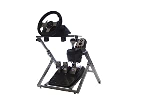 GTR GS Model Steering Wheel Stand - Racing Simulator Cockpit Gaming Stand with Steering Wheel, Pedal, and Shifter Holder