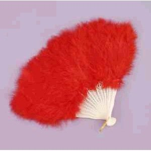 Red Feather Fan - 1