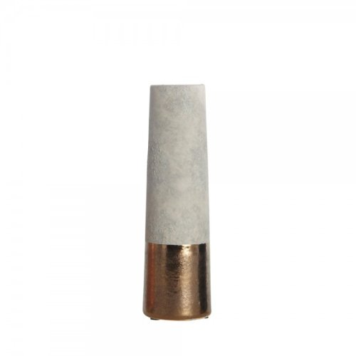 HOUSE DOCTOR, Dp0202, Vase 'Ole', Lasur Schwarz, 6x20cm, Beton, Farbe:gold