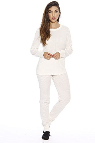 95862-White-XS Just Love Women's Thermal Underwear Set / Base Layer Thermals (Thermal Shirts Long Sleeve Women compare prices)