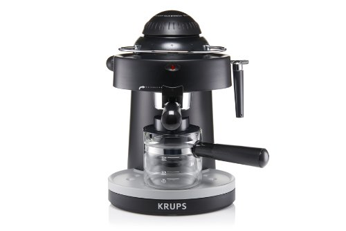 Steam Press Coffee Maker : KRUPS XP100050 Steam Espresso Machine with Frothing Nozzle for Cappuccino, Black from Krups ...