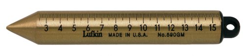 Lufkin 590GM 20-Ounce Plumb Bob with Graduated Inch Millimeters and Centimeters, Solid Brass