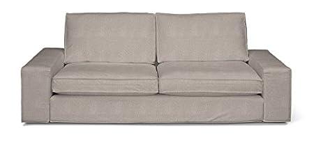 DEKORIA 703-705-09 - Copridivano 3 posti, per divano Kivik, modello Etna, colore beige/grigio