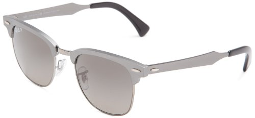Ray-Ban-Clubmaster-Aluminum-Square-Sunglasses
