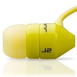 JBuds J2 Premium Hi-FI Noise Isolating Earbuds Style Headphones (Lambo Yellow)