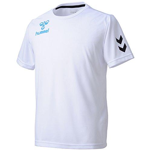 (ヒュンメル)Hummel ワンポイントドライTシャツ HAY2061 1067 ホワイト×ライトブルー L
