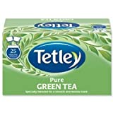 Tetley Tea Bags Pure Green Tea Individually Wrapped Ref 1293A - Pack 25