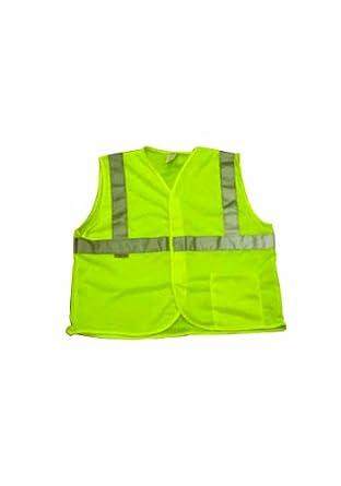 Elk River 99162 High Visibility Nylon/Polyester Mesh Safety Vest with Velcro Closure, Medium, Green
