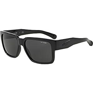 Arnette Supplier Unisex Sunglasses - 41/87 Gloss Black/Grey