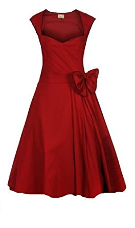 Red 50s Swing Dress