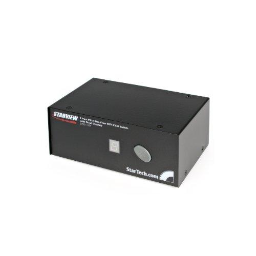 StarTech.com SV221DD 2-Port VGA Dual Monitor KVM Switch with PS/2 (Black)