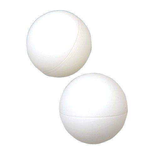 White Plastic Balls, 12 Count