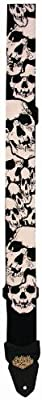 LM Products PS4SK2 2-Inch Silk Skull Electric Guitar Strap from LM Products