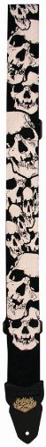 Lm Products Ps4Sk2 2-Inch Silk Skull Electric Guitar Strap