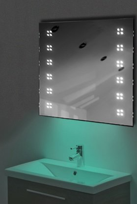 Ambient Ultra-Slim Led Bathroom Mirror With Demister Pad & Sensor K37T