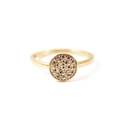 apop nyc 14k Gold Vermeil CZ Pave Disc Ring (6)