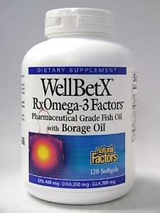 Natural Factors - WellBetX Omega-3 Factors 120 gels
