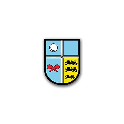 Aufkleber / Sticker - ABC Abwehrregiment 750 Baden AbwRgt Bruchsal Bundeswehr Wappen Abzeichen Emblem passend für VW Golf Polo GTI BMW 3er Mercedes Audi Opel Ford (5x7cm)#A1586