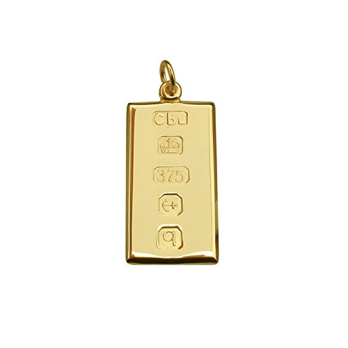 personalised-solid-9ct-yellow-gold-small-ingot-pendant-with-custom-hallmark-20mm-x-10mm-and-optional