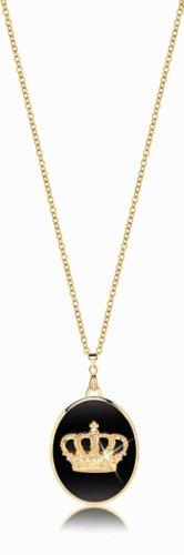 Glam Rock Queen Crown Locket Necklace
