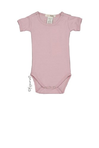 L'Ovedbaby Short-Sleeve Bodysuit, Pink 9-12 Months front-765543