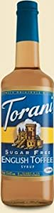 Torani® English Toffee Syrup Sugar Free