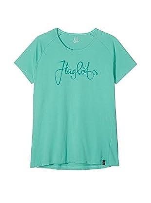 Haglöfs Camiseta Manga Corta Climatic Tees (Verde Agua)