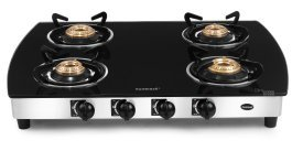Sunflair-Black-Body-Gas-Cooktop-(4-Burner)