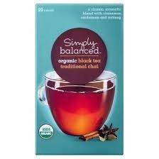 Simply Balanced Organic Traditional Chai Black Tea 20 Ct