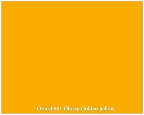 "12"" X 10 Ft Roll Of Glossy Oracal 651 Golden Yellow Repositionable Adhesive-Backed Vinyl For Craft Cutters, Punches And Vinyl Sign Cutters By Vinylxsticker"