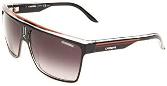 Carrera 22/S Shield Sunglasses,Shiny Black/black Frame/Dark Grey Gradient Lens,One Size
